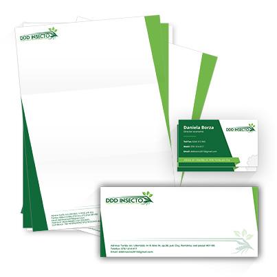 Design identitate companie DDD Insecto - servicii deratizare, dezinfectie, dezinsectie