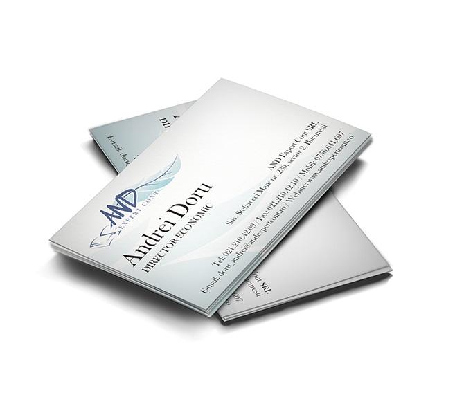 Design carte de vizita AND Expert Cont