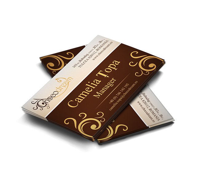 Design carte de vizita ciocolatier Choco Dream