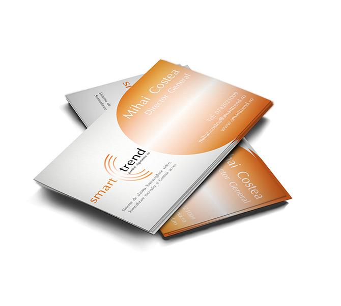Design carte de vizita firma echipamente supraveghere Smart Trend