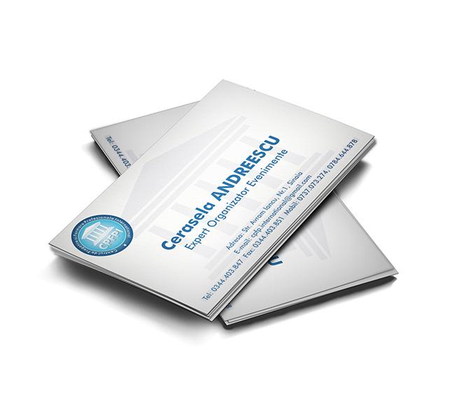 Design carte de vizita organizator evenimente CPFPI