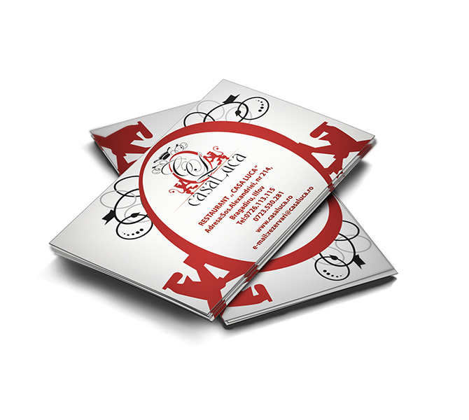 Design carte de vizita restaurant Casa Luca