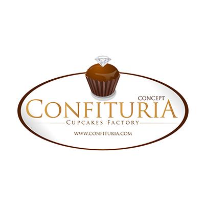 Design logo cofetarie - Confituria Cupcake