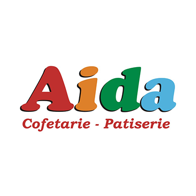 Design logo firma Aida Cofetarie-Patiserie