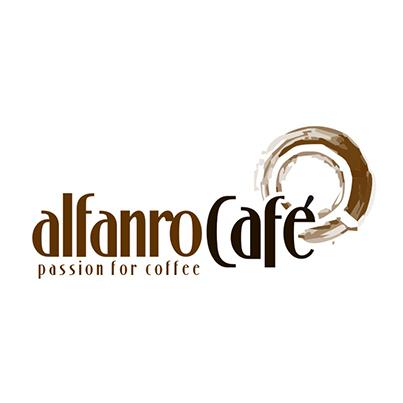 Design logo comerciant expresoare cafe - Alfanro Cafe