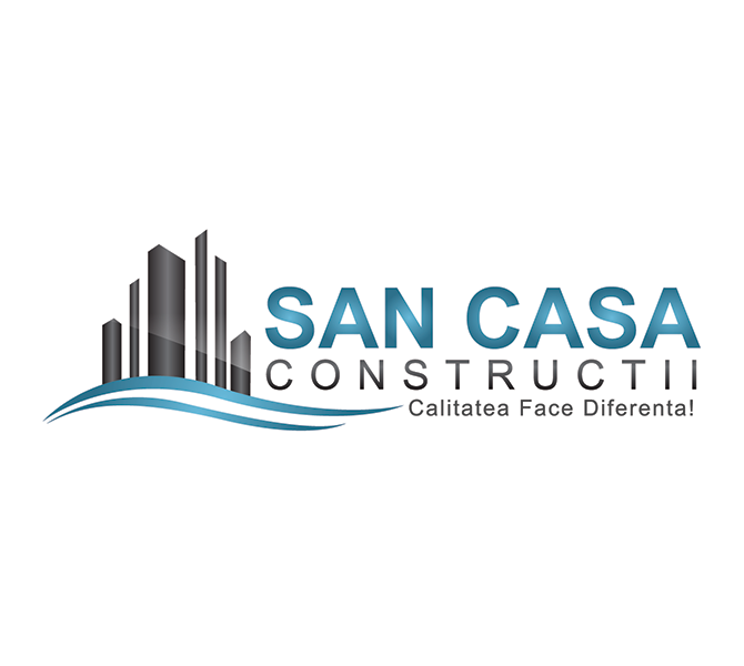 Design logo firma San Casa Constructii