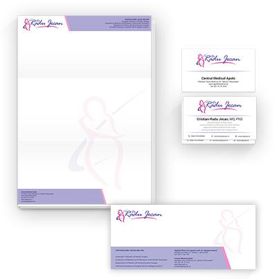 Design identitate companie clinica chirurgie estetica si plastica - Dr. Cristian Radu Jecan