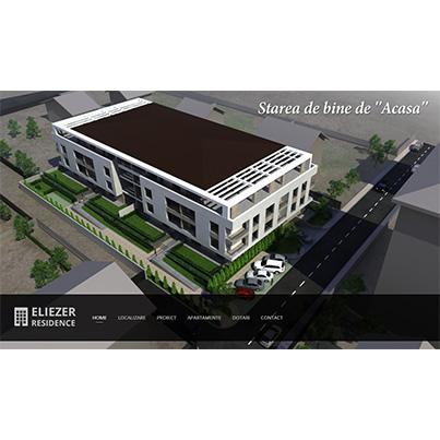 Creare site web de prezentare dezvoltator imobiliar - Eliezer Residence