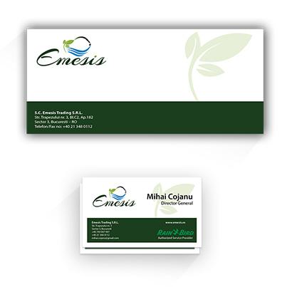 Design identitate companie Emesis - solutii complete pentru irigatii automatizate