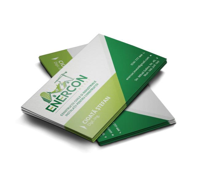 Design carte vizita firma de constructii - Enercon