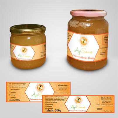 Design etichete producator miere de albine si produse apicole - Api Sonne