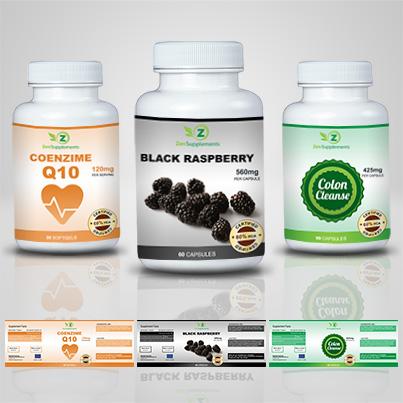 Design etichete suplimente nutritive Black Raspberry