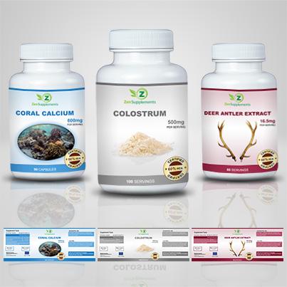 Realizare etichete suplimente nutritive Colostrum