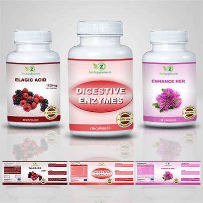 Design etichete suplimente nutritive Digestive
