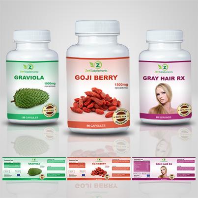 Realizare etichete suplimente nutritive Goji