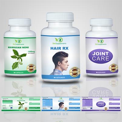 Design etichete suplimente nutritive Hair RX