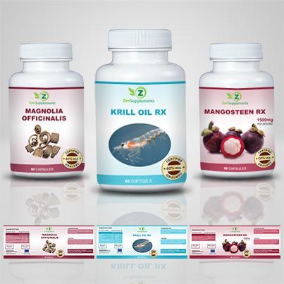 Realizare eticheta suplimente nutritive Krill Oil