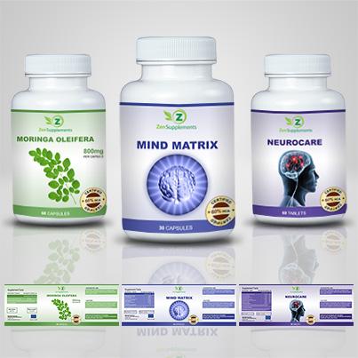 Design eticheta suplimente nutritive Mind Matrix