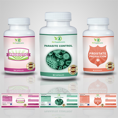 Realizare eticheta suplimente nutritive Parasite Control