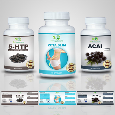 Design eticheta suplimente nutritive Zeta Slim