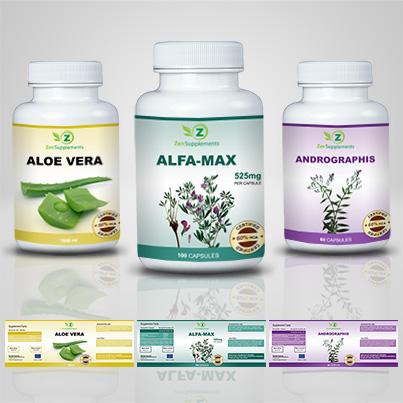 Design eticheta suplimente nutritive Alfa Max