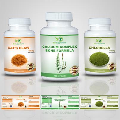 Realizare eticheta suplimente nutritive Calcium Complex