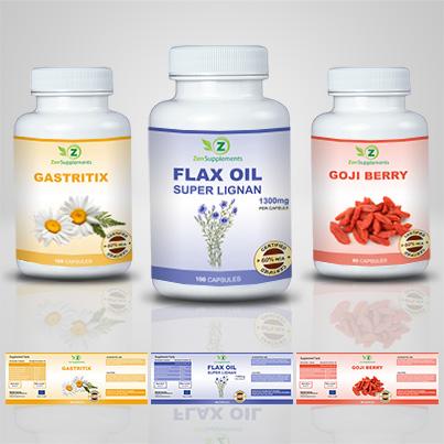 Realizare eticheta suplimente nutritive Flax Oil