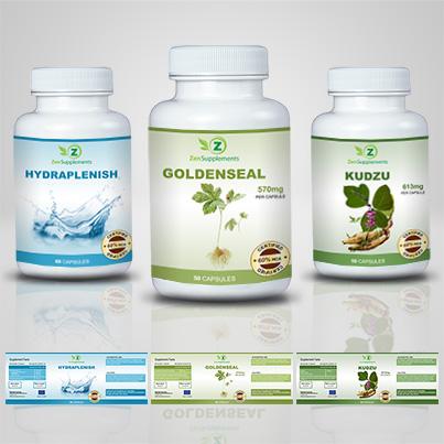 Design eticheta suplimente nutritive Goldenseal