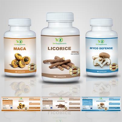 Realizare etichete suplimente nutritive Licorice