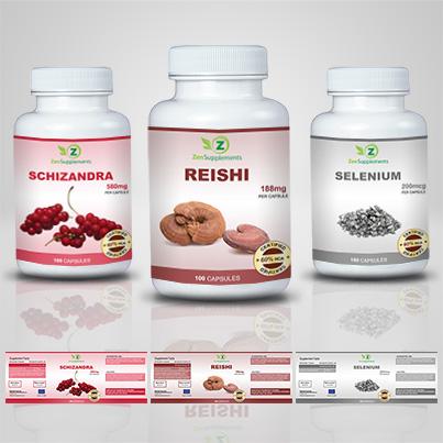 Design etichete suplimente nutritive Reishi