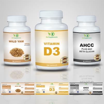 Design etichete suplimente nutritive Vitamin D3