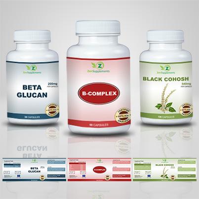 Realizare etichete suplimente nutritive B-Complex