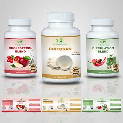 Design eticheta suplimente nutritive Chitosan