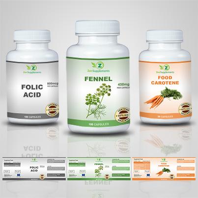 Realizare eticheta suplimente nutritive Fennel