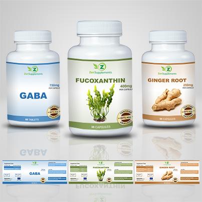 Design eticheta suplimente nutritive Fucoxanthin
