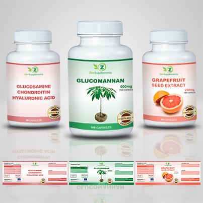 Design etichete suplimente nutritive Glucomannan
