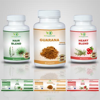 Realizare eticheta suplimente nutritive Guarana