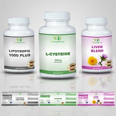Design eticheta suplimente nutritive L-Cysteine