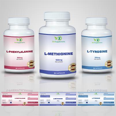 Design etichete suplimente nutritive L-Methionine