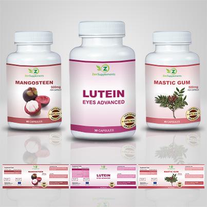 Realizare eticheta suplimente nutritive Lutein