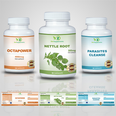 Design eticheta suplimente nutritive Nettle Root