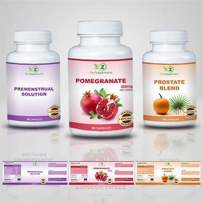 Design etichete suplimente nutritive Pomegranate
