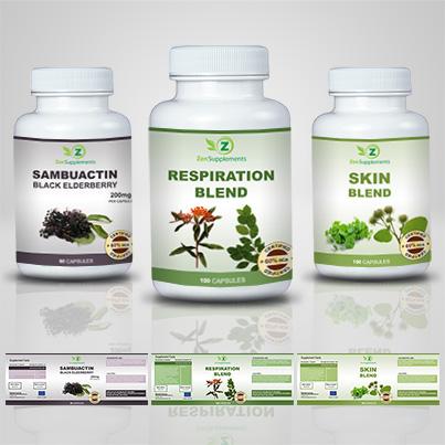 Realizare eticheta suplimente nutritive Respiration Blend