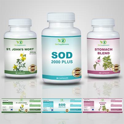 Realizare etichete suplimente nutritive Sod