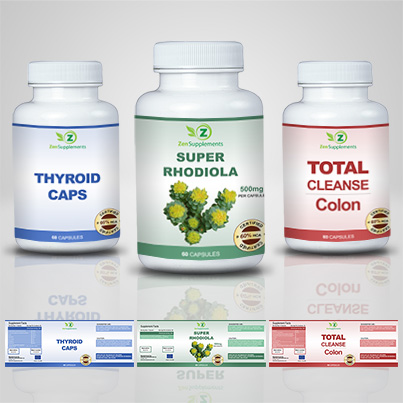 Design eticheta suplimente nutritive Super Rhodiola