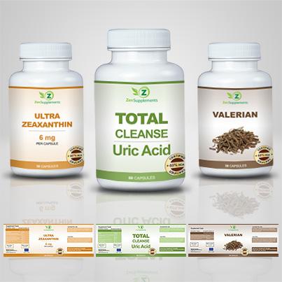 Realizare eticheta suplimente nutritive Total Cleanse Uric Acid