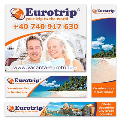 Design banner publicitar agentie de turism - Eurotrip