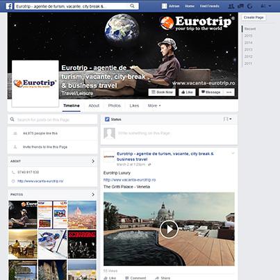 Design pagina facebook agentie de turism Eurotrip