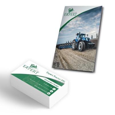 Design identitate companie vanzari utilaje agricole - Expert Tractor