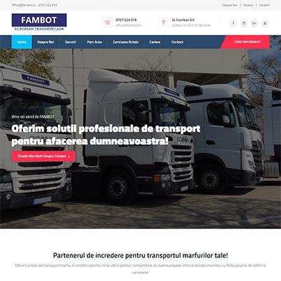 Creare site web de prezentare firma transport marfa - Fambot